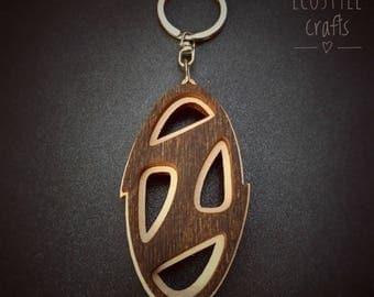 Huyndai cool Key Chain with logo - Laser Cut Wooden Keychain