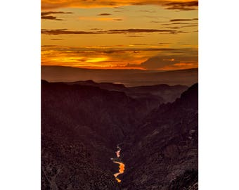 Sunset at the Black Canyon - Colorado Western Slope photography by Harry Durgin