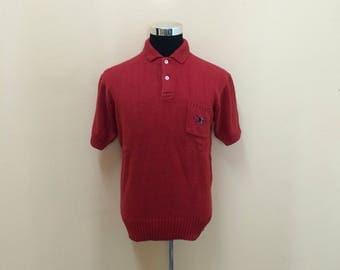 Vintage 90's Polo RLPC Cricket Collar Knitwear Small Embroidery Logo Nice Design // Polo Ralph Lauren Cricket // Polo Cricket