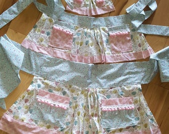 "Vintage-inspired ""Mommy, Dolly and Me"" aprons by Cherri Cider"