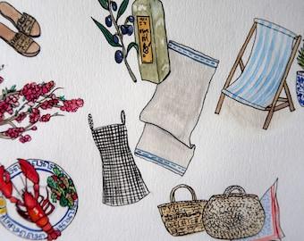Greece Lovin Summer | Print