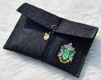 Book Sleeve Harry Potter Hogwarts House Slytherin