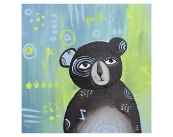 Strength-Bear Print Painting