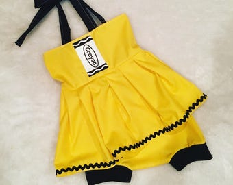 Crayola, crayon, Dress set, set, baby set boutique, nb, 3,6,9,12,24 months, 2,3t