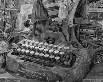 Typewriter Decor Photography Home Decor Print Office Decor Gift for Her Wall Art Photography Prints Rustic Home Decor Photo