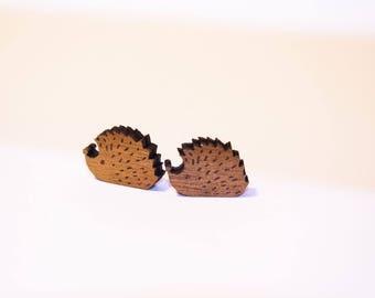 Mother of Pearl Gold Hedgehog earrings