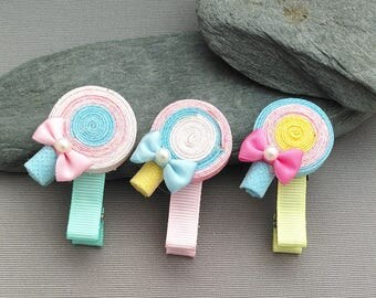 Girl hair clips, hair clips, green hair clips, pink hair clips, yellow clips for hair