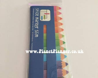 Page Markers, Rainbow Page Markers, Pencil Page Markers, Mini Post It Notes, Crayon Post It Notes, Pencil Post It Notes, Rainbow Stationery.