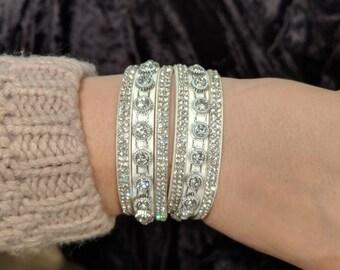Rhinestone wrap bracelet