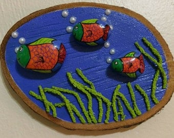 Fish Family Plaque