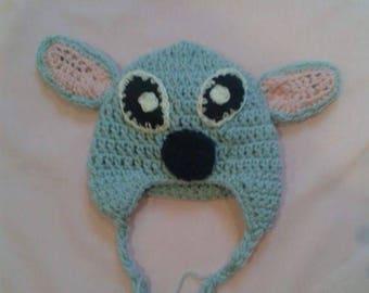 crochet wool hat handmade stitch