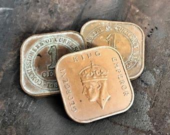 Original Coin of Colonial Malaysia 1939 - EDC