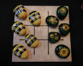 Tic-Tac-Toe   Bumblebees and Flowers