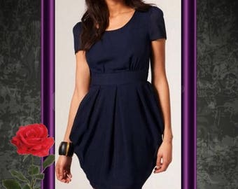 Sewing pattern tutorial model chic and elegant dress for woman