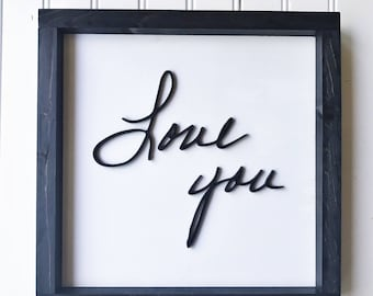 Handwriting Sign (<10 Letters) - Actual Handwriting - I Love You Gifts - Memorial Gift - Remembering a Loved One - Groom Gift From Bride