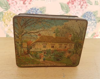 Vintage Toffee Tin, Totnes Butter Scotch, Devon. 1920s.