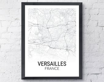 Versailles France Map Print