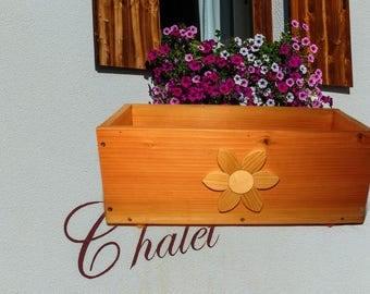 Wooden flower tray