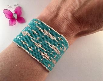 Cuff waves Miyuki glass beads