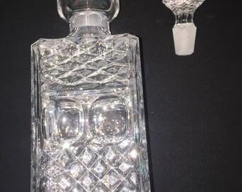 Antique Heavy Crystal Decanter