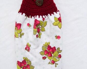 Strawberry Kitchen Towel - Crochet Top