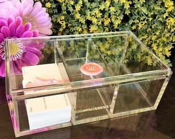 Modern Gratitude Chest w/ 90 Gratitude Cards & Space Clearing Spray. Contemporary. Elegant. Hand-detailed.