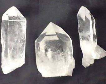 Healing Quartz Crystals Points, Three Arkansas Crystals