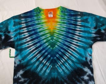 L Blue V Tie Dye Shirt