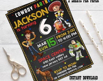 Instant download- Toy Story Invitation, Toy Story Birthday, Toy Story editable Invitation, Toy Story Party, Toy Story editable pdf,Toy Story