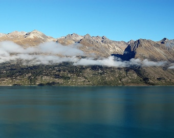 Lake Wakatipu, New Zealand, Glenorchy, Mountains, Wall Art, Home Decor, Travel Photography, Landscape, Fine Art Print
