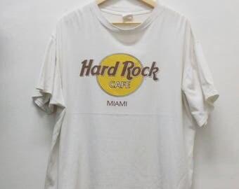 Hard Rock Cafe MIAMI Shirt Vintage 90's Hard rock cafe Design Logo shirt Size XL