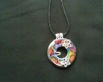 One of a kind painted unique necklaces.