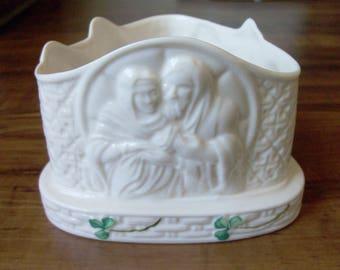 Vintage Porcelain candle holder. Ireland (#EV138)