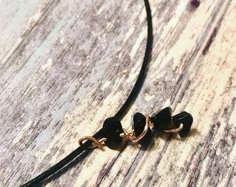 Black Onyx Pendant, Black Onyx, Black Onyx Necklace, Wire Wrapped Pendant