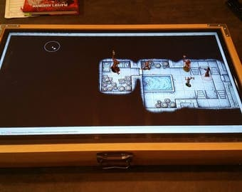 Digital Map Case / Battle Mat (New Dovetail Joint Model) for Dungeons & Dragons, Pathfinder and other tabletop RPGs ( with Fog of War )