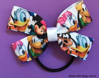 Disney's Mickey and Friends inspired hair bow
