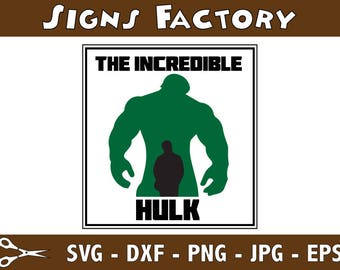 The Incredible Hulk svg studio dxf pdf jpg eps,  use with Cricut & Silhouette.