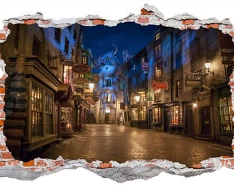 Diagon Alley Wall Decal Graphic Wall Decor Art