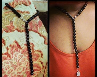 Pearl Neck Tie Necklace