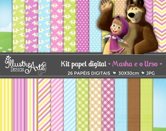Masha and The Bear Digital Paper