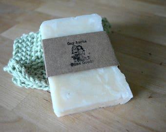Vegan Handmade Soap - Unscented Soap - Sensitive Skin Soap