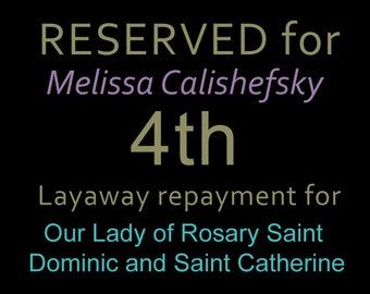 """RESERVED for Melissa Calishefsky 4th Repayment for: 14"""" Our Lady of Rosary Saint Dominic and Saint Catherine of Siena Virgin Pompei Statue"""