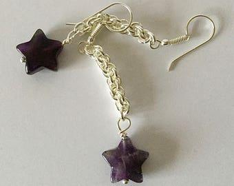 Amethyst Star and Jens Pind earrings