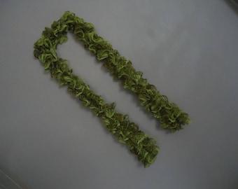 Handmade lime green fashion scarf