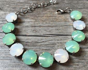 White & Pacific Opal Swarovski Bracelet