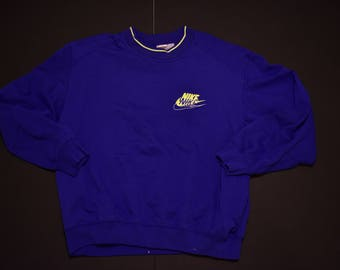 Vintage nike gray tag sweatshirt blue and green size xxl