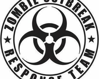 Zombie Outbreak vinyl sticker decal