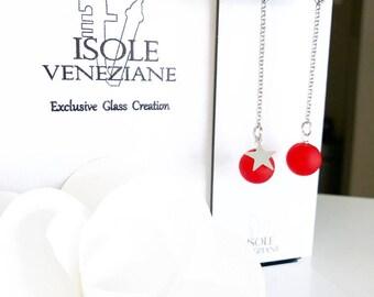 CHLOE light red-pink drop earrings