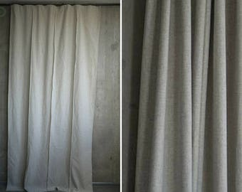 Window treatment cotton curtain panel natural hemp curtain window drape natural curtain eco-friendly window beige drape beige photo backdrop