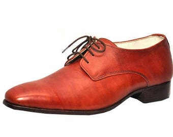 ON SUMMER SALE Weber Handmade Oxford Plain Men Brown Leather Shoes.
